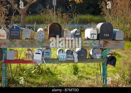 Mailboxes in Sausalito near San Francisco. California, USA. - Stock Photo