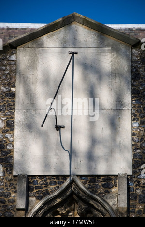 Church of St Peter & St Mary, Stowmarket, Suffolk. Sundial - Stock Photo