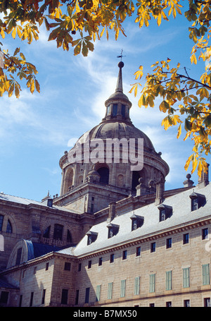 Dome of the church. Monastery of San Lorenzo del Escorial. Madrid province. Spain. - Stock Photo