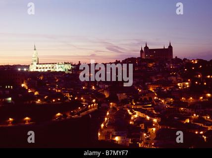 Night view of Toledo. Castile La Mancha. Spain.