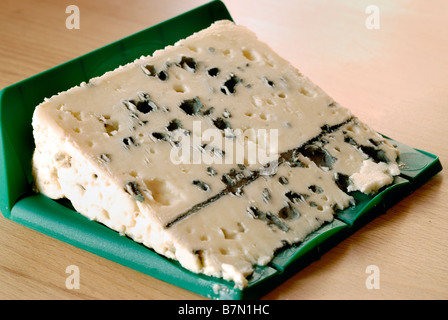 'French Food' 'French Cheese' Slice of Roquefort 'Blue Cheese' 'local food' - Stock Photo
