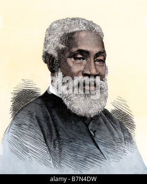 Josiah Henson, the black slave alleged to have been Harriet Beecher Stowe's model for Uncle Tom. Hand-colored woodcut - Stock Photo
