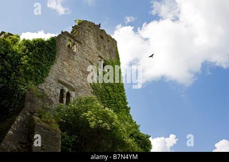 Hay Castle, Hay on Wye, Wales UK - Stock Photo