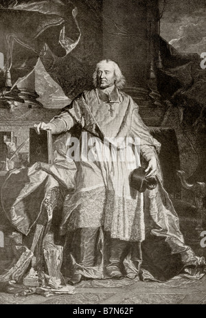 Jacques Benigne Bossuet 1627 1704 Bishop of Meaux French theologian court preacher and renowned pulpit orator - Stock Photo