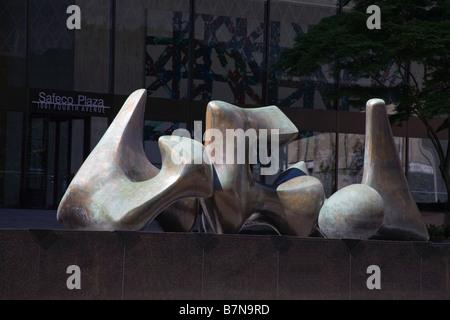 Sculpture on Safeco Plaza Seattle Washington State USA - Stock Photo