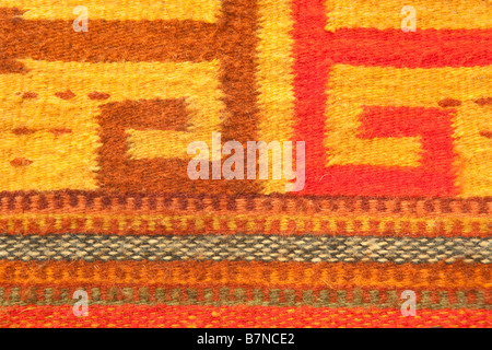 Close-up of a traditional Navajo rug pattern - Stock Photo