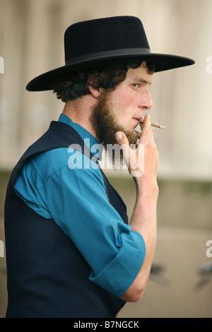 Amish Man Smoking, Toronto, Ontario, Canada