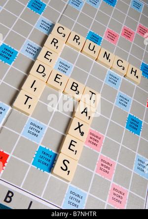 Scrabble Board Game(financial). - Stock Photo