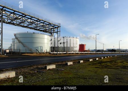 Teeside storage tanks - Stock Photo