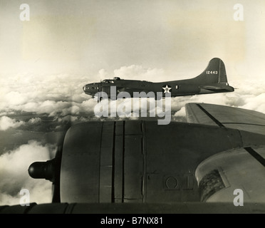 BOEING B-17E FLYING FORTRESS of the USAAF  flying from Tunisia in 1943 - Stock Photo