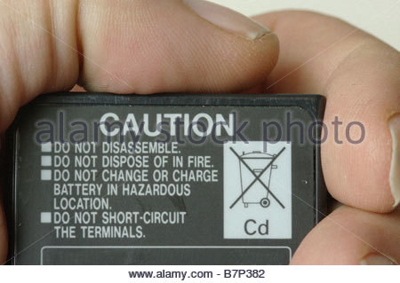 battery rechargeable Cadmium - Stock Photo
