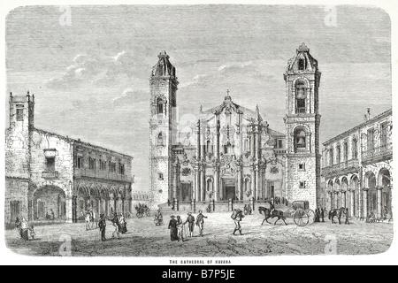 Cathedral of Saint Christopher of Havana Catedral de San Cristóbal de La Havana Jaime Lucas Ortega y Alamino Archbishop - Stock Photo