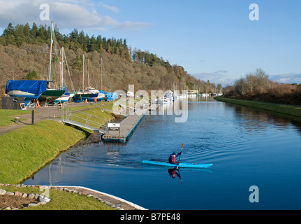 Dochgarroch on the Caledonian Canal South of Inverness Highland Region Scotland UK    SCO 2039 - Stock Photo