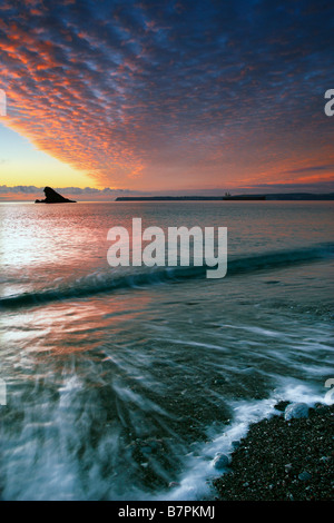 Sunrise over Torbay,South Devon. England - Stock Photo