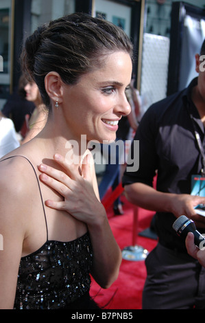 Actress Amanda Peet attends the U.S. premiere of The X-Files: I Want to Believe at Mann Grauman's Chinese Theater. - Stock Photo