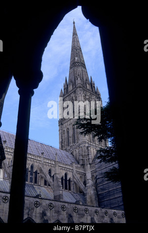 Salisbury Cathedral, Wiltshire, UK - Stock Photo