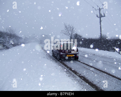 bad driving conditions in snow and wet weather seen through car stock photo 10959443 alamy. Black Bedroom Furniture Sets. Home Design Ideas
