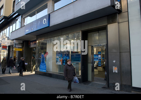 Telecom giant O2 Prague store. - Stock Photo