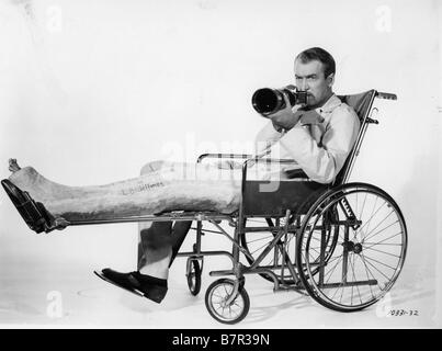 James stewart rear window 1954 stock photo royalty free for Fenetre sur cour