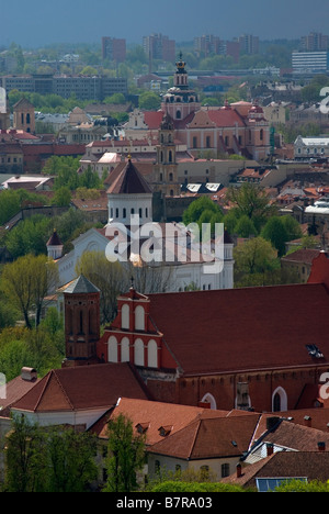 A church in the Vilnius old town - Stock Photo