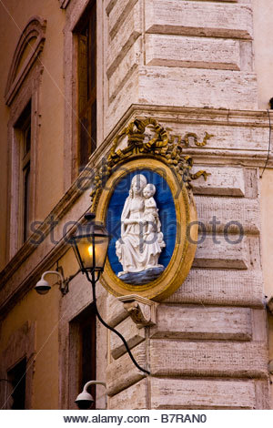 Shrine To The Virgin Mary And The Baby Jesus In The