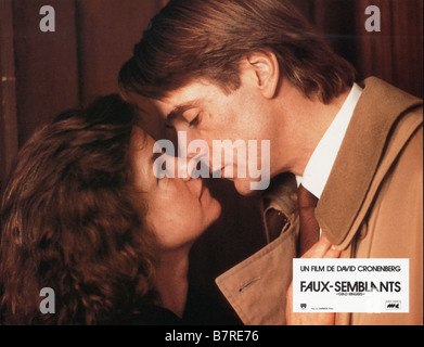 Faux semblants Dead Ringers  Year: 1988 - canada usa Jeremy Irons, Geneviève Bujold  Director: David Cronenberg - Stock Photo