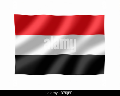 Yemen Yemeni Flag - Stock Photo