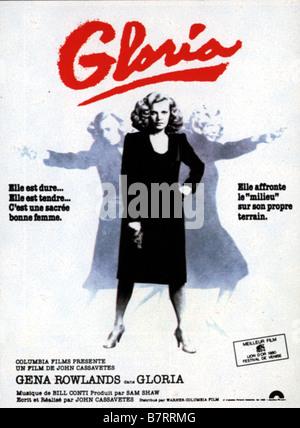 Gloria  Year: 1980 USA Director: John Cassavetes Movie poster (Fr) - Stock Photo