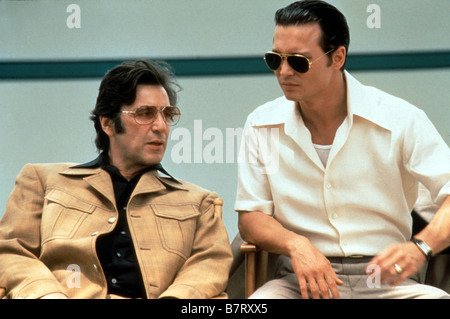Donnie Brasco  Year: 1997 USA Al Pacino, Johnny Depp,  Director: Mike Newell - Stock Photo