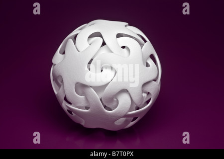 A production by 3 dimensional printing of a modern sculpture (organic design). - Stock Photo