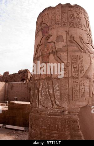 Detail Photograph Pillar Stump Kom Ombo Temple - Stock Photo