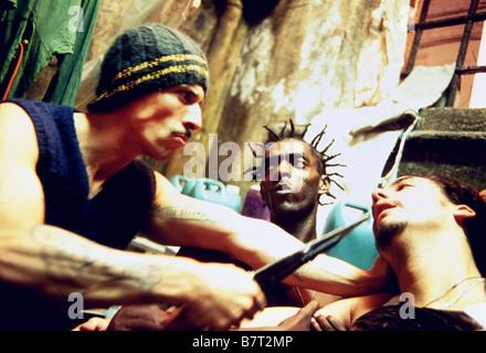 Carandiru  Year: 2003  Brazil / Argentina Milhem Cortaz, Sabotage, Wagner Moura  Director: Hector Babenko - Stock Photo