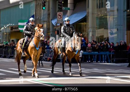 St Patrick Parade on fifth Avenue New York City NY USA 2008 - Stock Photo
