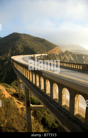 Bixby Bridge, Highway 1, Big Sur, Pacific coast, California, USA