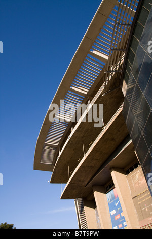 The outside of the South stand at Camp Nou home of FC Barcelona - Stock Photo