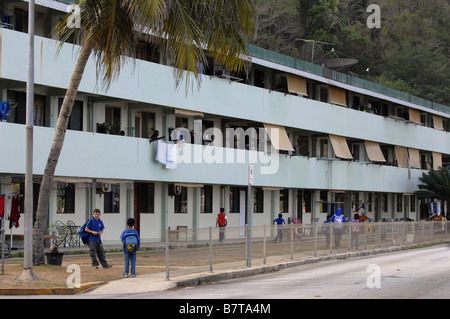 Flying Fish Cove, also called The Settlement, on Christmas Island ...