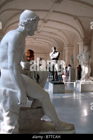 Sculpture Gallery in the Palais des Beaux Arts, Lille, France - Stock Photo