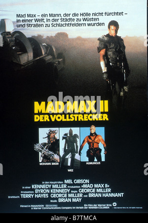 Mad Max 2: The Road Warrior  Year: 1981 - Australia Director: Mel Gibson George Miller Movie poster (Ger) - Stock Photo
