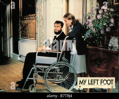 My Left Foot: The Story of Christy Brown  Year: 1989 - Ireland / UK Daniel Day-Lewis , Ruth McCabe  Director: Jim - Stock Photo