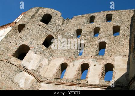 Porta Savoia (Port of Savoy), Susa, Piedmont, Italy. - Stock Photo