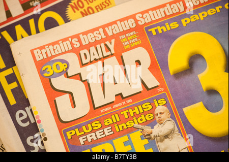 UK newspapers the Daily Star - Stock Photo