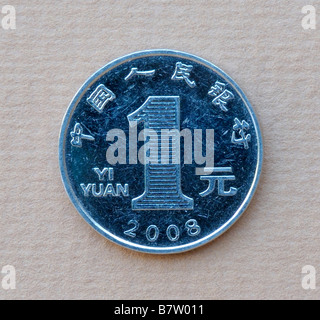 China 1 One Yuan Coin - Stock Photo