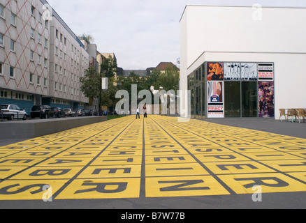 field of letters outside the Berlin Gallery National Museum of Modern Art photography and architecture Kreuzberg - Stock Photo