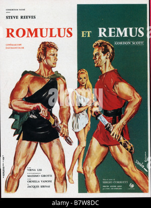Romulus et remus romolo e remo ann e 1961 italy steve reeves virna stock photo royalty free for Poster et affiche