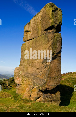 Stone column at Alport Heights near Wirksworth in the Derbyshire Peak District England UK - Stock Photo