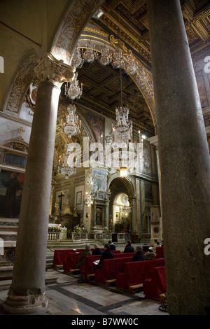 Inside the church of Santa Maria in Aracoeli in Rome - Stock Photo