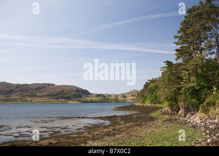 Loch Ewe, a sea loch on the west coast, Ross and Cromarty district, Northwest Highlands of Scotland, Great Britain - Stock Photo