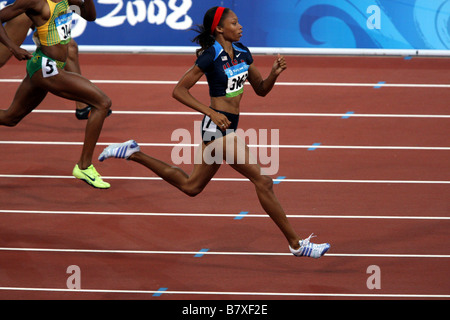 Allyson FELIX JPN August 20 2008 Athletics Womens 200m Semi final during the track and field athletics event at - Stock Photo