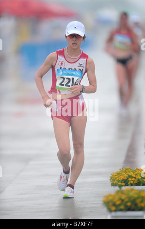 Sachiko Konishi JPN AUGUST 21 2008 Athletics Sachiko Konishi of Japan competes in Womens 20km Walk during the 2008 - Stock Photo