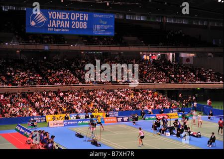 General view SEPTEMBER 20 2008 Badminton YONEX Open Japan 2008 at Tokyo Metropolitan Gymnasium Tokyo Japan Photo - Stock Photo